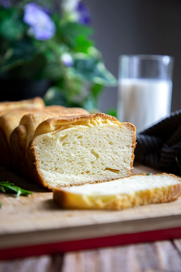 Japanese milk bread with air bubbles