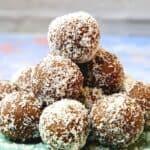 chocolate coconut balls pin 1