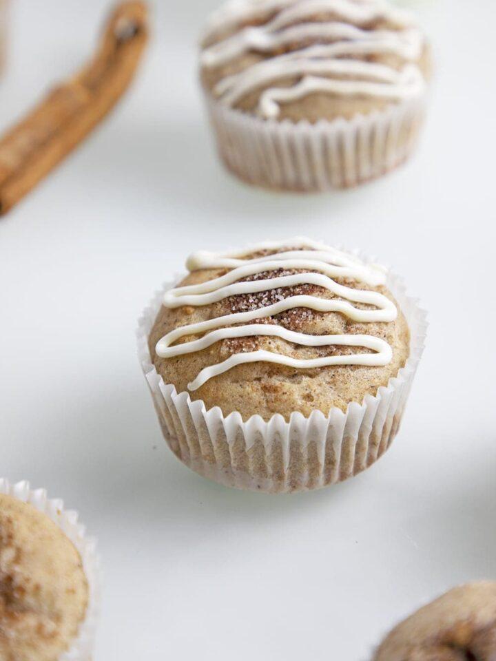 cinnamon sugar cupcake with frosting