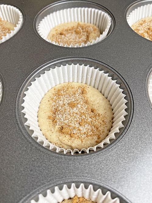 cinnamon sugar cupcake second layer