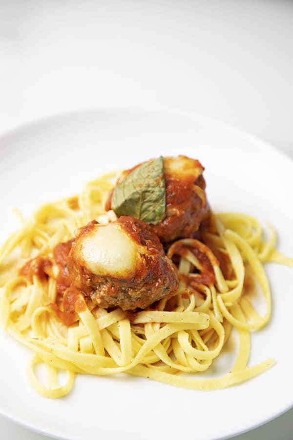 gluten free meatballs and spaghetti
