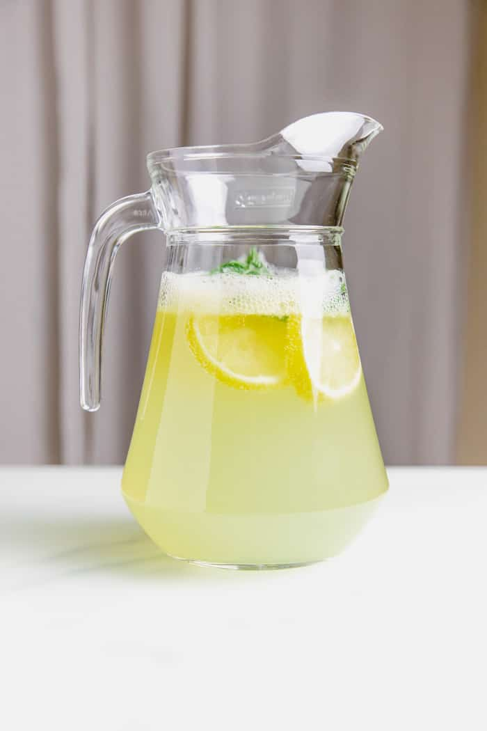 lemonade with mint in a 1.5L flask.