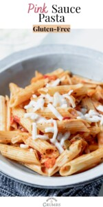 pink sauce pasta with cheese
