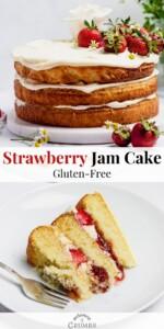 gluten free strawberry jam cake pin 01