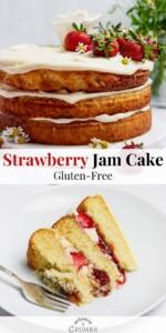 gluten free strawberry jam cake pin 02