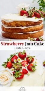 gluten free strawberry jam cake pin 05
